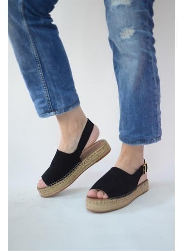 La scada Sıyah Kadın Sandalet 21565 Siyah